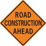 Illustration of Road Construction sign